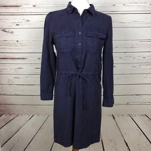 J. Crew Purple Tie Waist Dress // Sz 4